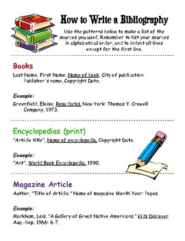 How to write a bibliography for textbooks